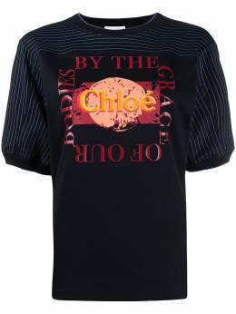 Chloe футболка с логотипом CHC20UJH08288