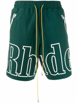 Rhude шорты с кулиской и логотипом 06PS20039