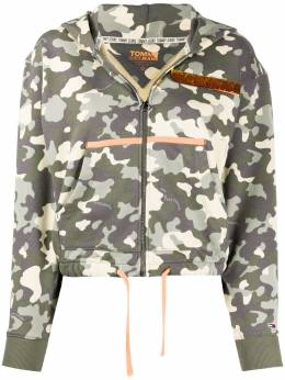 Tommy Jeans camouflage print zipped hoodie DW0DW07979
