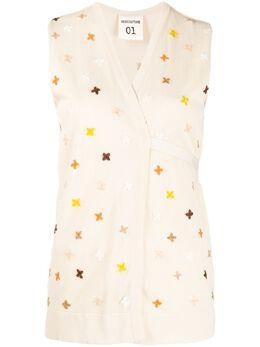 Semicouture sleeveless wrap-style cardigan S0SA20