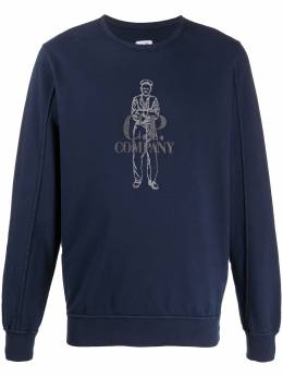 C.P. Company embroidered logo sweatshirt 08CMSS169A002246G