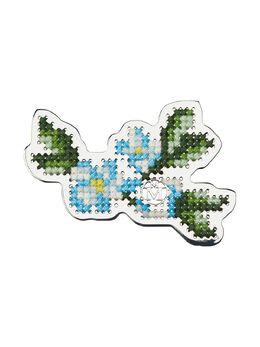 Maison Michel брошь Marlene с цветочной вышивкой 3115002002