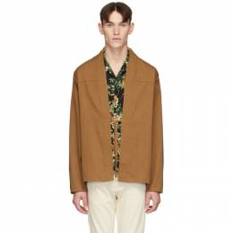 Naked And Famous Denim SSENSE Exclusive Brown Kimono Shirt SSE258225