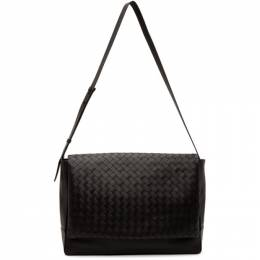 Bottega Veneta Black Intrecciato Messenger Bag 609420 VCPQ1