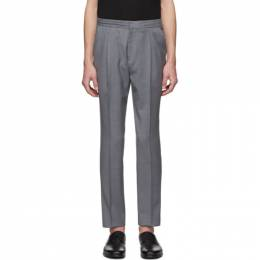 Z Zegna Grey Wool Drawstring Trousers 7ZF004 73N5C2