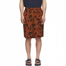 Stella McCartney Brown Viscose Printed Shorts 600473SON19