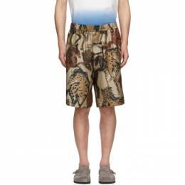 Stella McCartney Beige Silk Printed Shorts 600473SON16