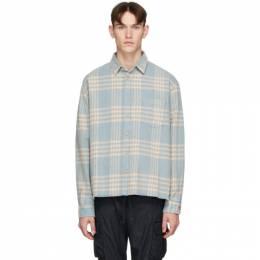 John Elliott Blue Hemi Oversized Shirt E047I33448A