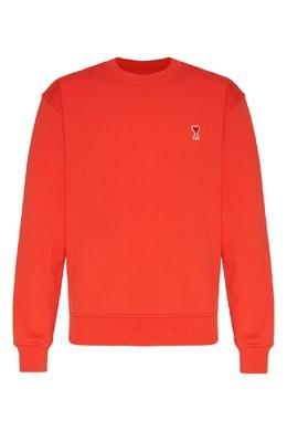 Красный хлопковый свитшот Ami 1376189911