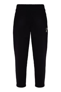 Черные брюки с эластичным поясом Ami 1376189900
