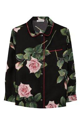 Шелковая блузка Dolce&Gabbana L54S49/IS1BE/2-6