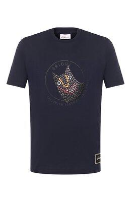 Хлопковая футболка Brioni UJCH0L/P9642