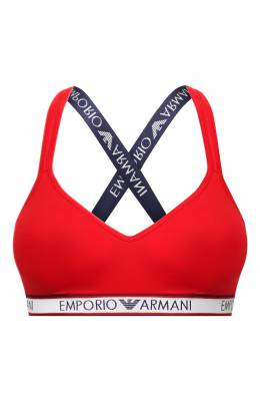 Хлопковый бюстгальтер Emporio Armani 163995/0P317