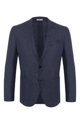 Пиджак из смеси шерсти и льна Luciano Barbera 111210/18316