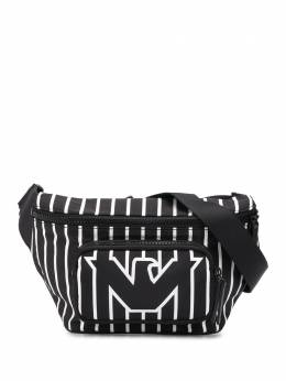Emporio Armani полосатая поясная сумка с логотипом Y4O238YMO2V