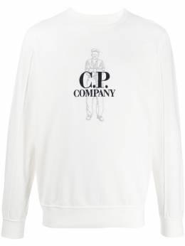 C.P. Company embroidered logo sweatshirt 08CMSS169A002246G