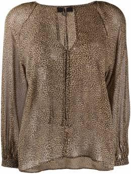 Nili Lotan блузка с леопардовым принтом 10934W137