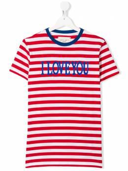 Alberta Ferretti Kids TEEN striped cotton T-shirt 022185