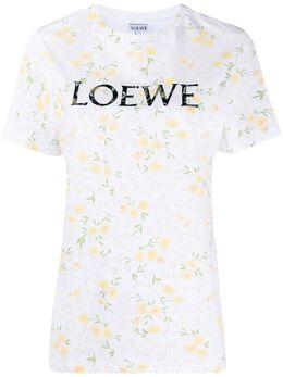 Loewe floral print logo T-shirt S540333XAR