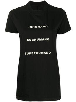 Rick Owens DRKSHDW футболка Inhuman DS20S5205RNEP5
