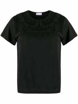 Red Valentino lace insert T-shirt TR0MG05Q52M