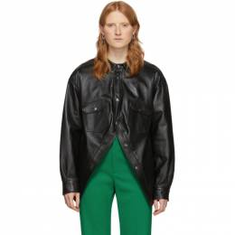 Balenciaga Black Swing Canadian Jacket 606243-TGS07