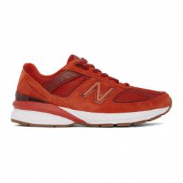 New Balance Red US Made 990v5 Sneakers M990MS5