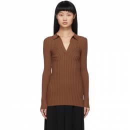 Toteme Brown Knit Arradon Polo 202-503-755