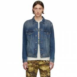 Givenchy Blue Denim Address Classic Fit Jacket BM00CY50CN