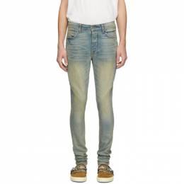 Amiri Indigo Half Track Jeans Y0M01397SD