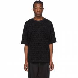 Dolce&Gabbana Black Flocked Print Hoodie G8KN7T G7VCZ