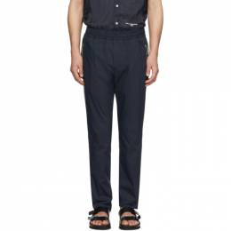 Stella McCartney Navy and Beige Contrast Piet Trousers 600392SON02