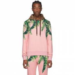 Dolce&Gabbana Pink Floral and Leopard Hoodie G9OF9 TFI7U2