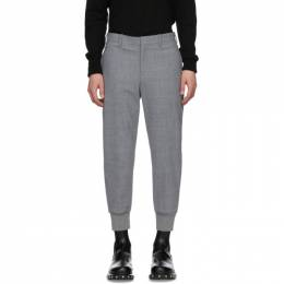 Neil Barrett Grey Wool Cuffed Trousers PBPA 78SH N029