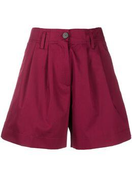Forte_Forte шорты с завышенной талией и складками 7019MYPANTS
