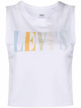 Levi's logo-print tank top 39810