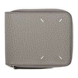 Maison Margiela Grey Square Zip Wallet S56UI0111 P0399