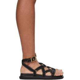 Marni Black Strappy Flat Sandals FBMS007001 P2965