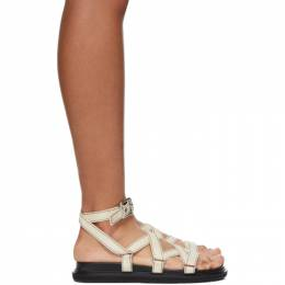 Marni Off-White Strappy Flat Sandals FBMS007001 P2965