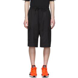 Y-3 Black Wool Classic Cargo Shorts FN3401