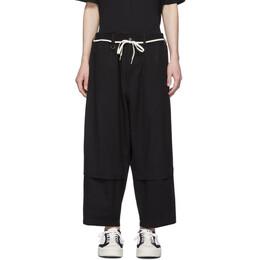 Y-3 Black Cropped Workwear Cargo Pants FP8678