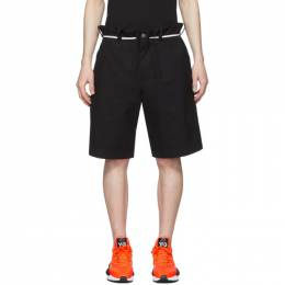 Y-3 Black Canvas Workwear Shorts FP8676