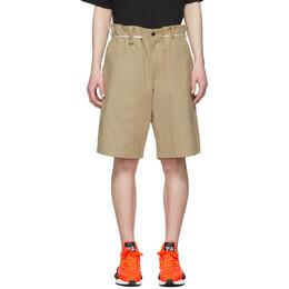Y-3 Khaki Canvas Workwear Shorts FP8677