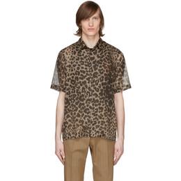 Dries Van Noten Brown and Beige Leopard Shirt 20734-9002-703