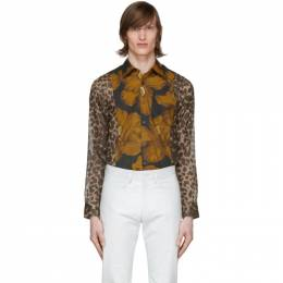 Dries Van Noten Multicolor Animal and Floral Print Shirt 20726-9003-203
