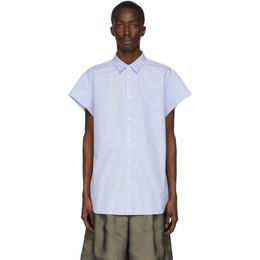 Maison Margiela Blue Ripped Sleeves Shirt S29DL0172 S43001
