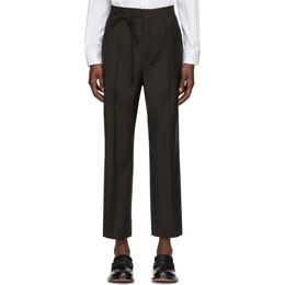Maison Margiela Brown Wool Trousers S30KA0580 S52640