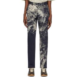 Maison Margiela Navy Paint Splatter Trousers S30KA0588 S52726