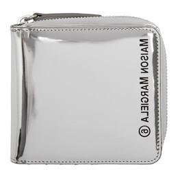 Mm6 Maison Margiela Silver Mirrored Zip Wallet S54UI0066 P3242