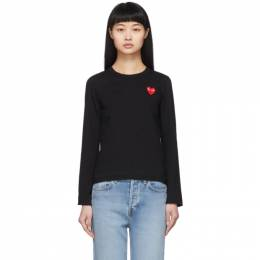 Comme Des Garcons Play Black Heart Patch Long Sleeve T-Shirt P1T117